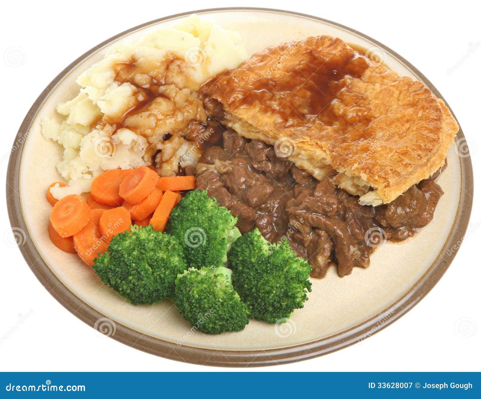 Steak Pie Dinner Plate Royalty Free Stock Photography ...