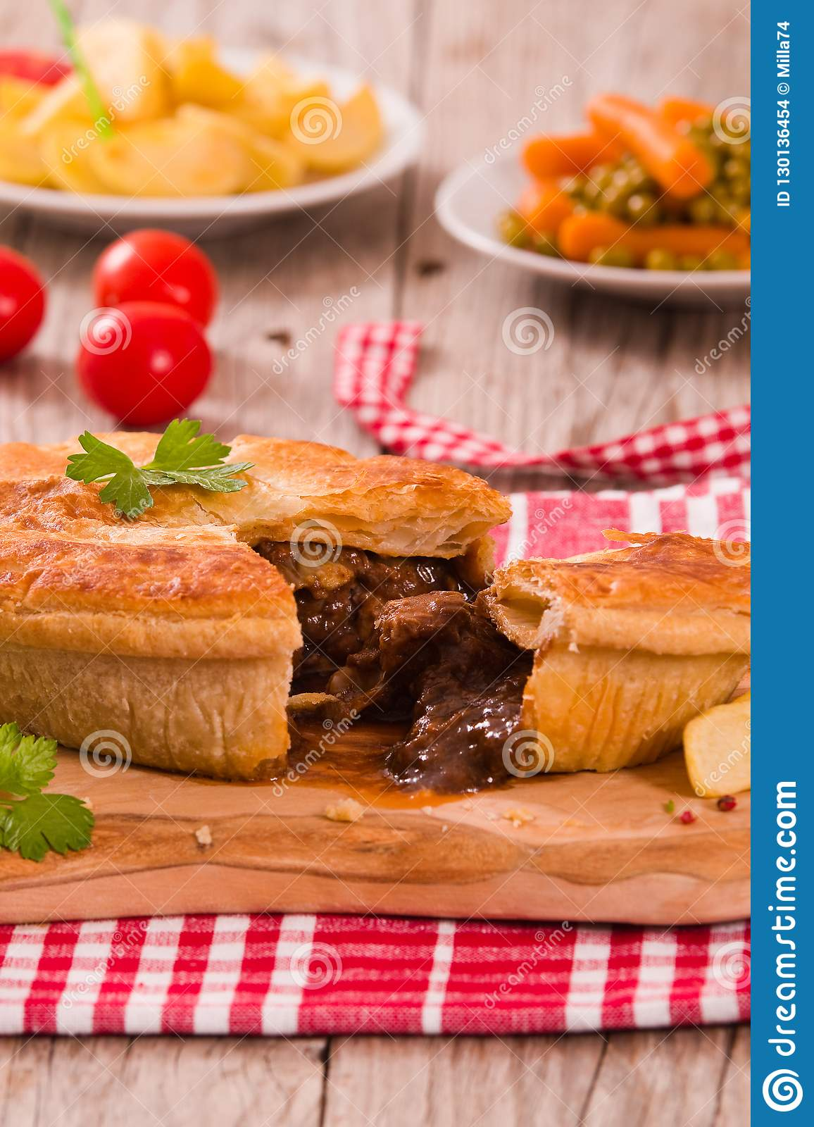 Steak pie. stock photo. Image of delicious, food, pastry ...