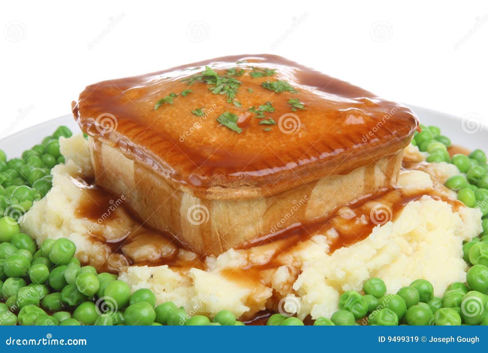 Steak Pie, Mash, Peas And Gravy Stock Image - Image of ...