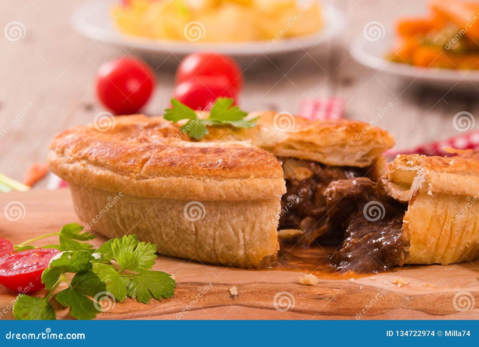Steak pie. stock photo. Image of organic, nutrition ...