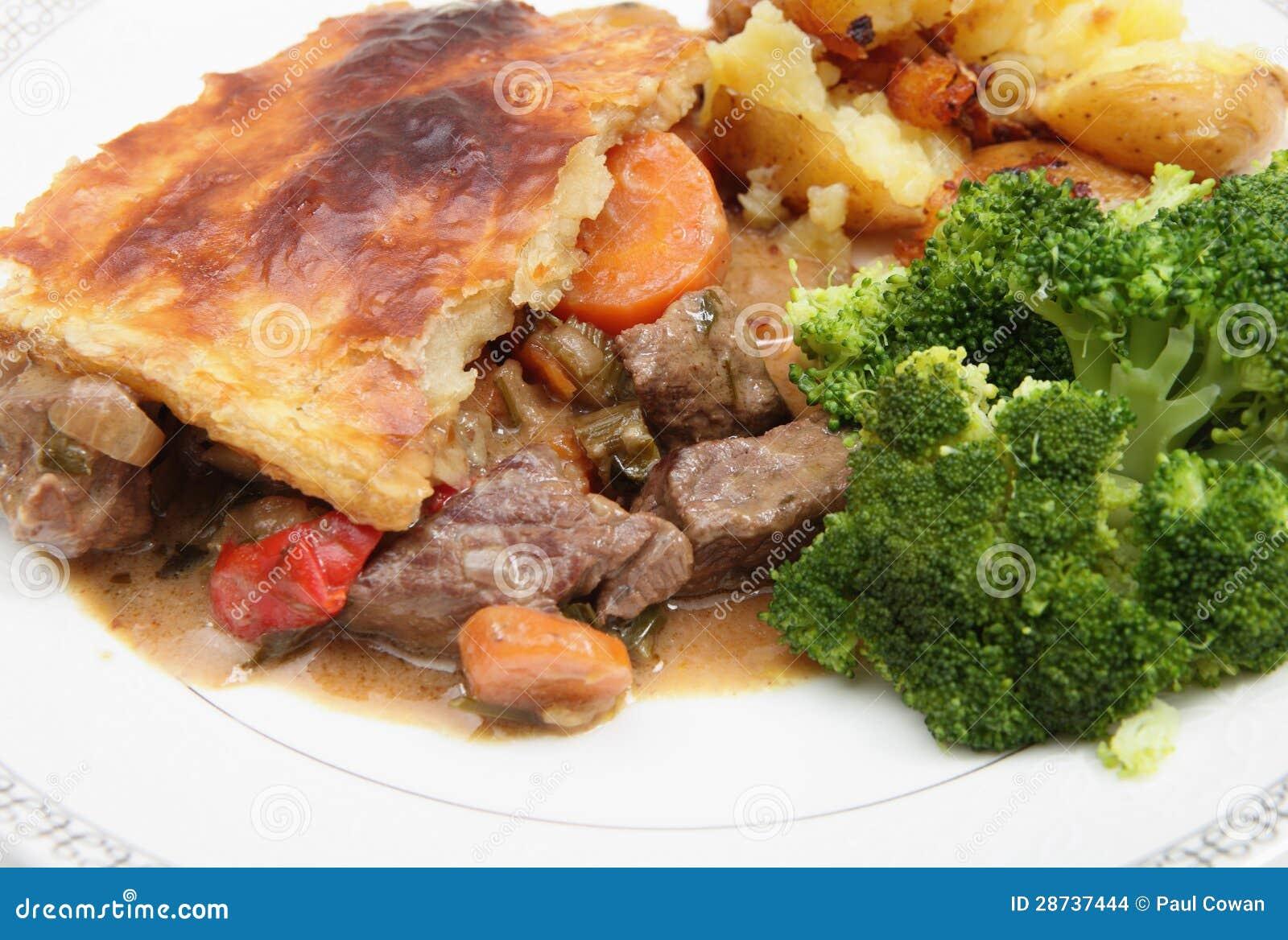 Steak and veg pie stock photo. Image of british, crushed ...