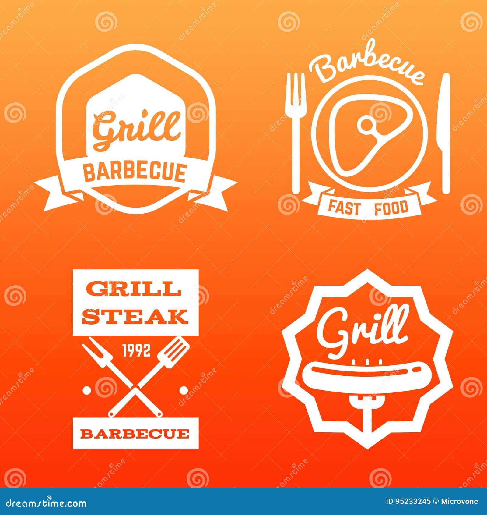 Steakhouse, grilla bar i grill etykietka,