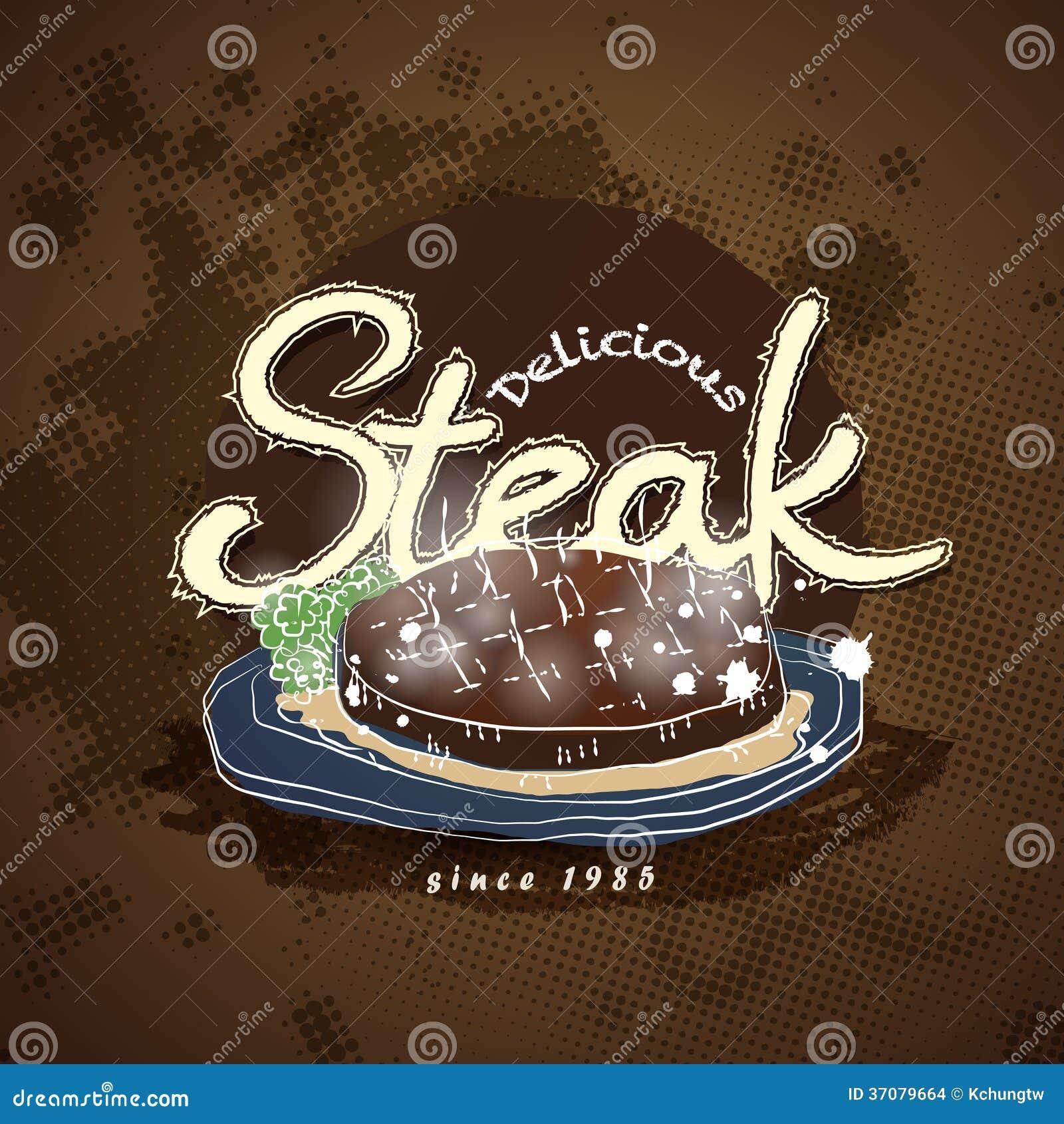 Download Steakhouse menu ilustracja wektor. Ilustracja złożonej z rozkaz - 37079664