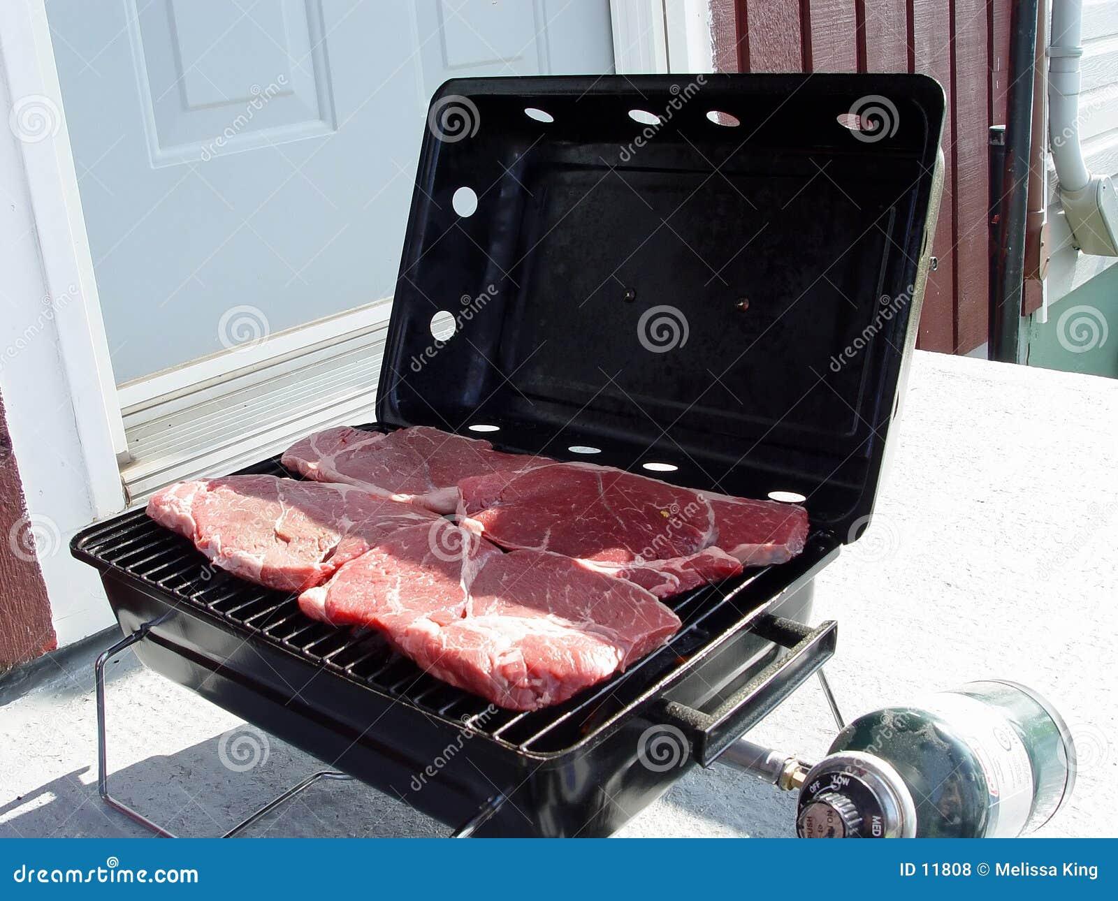 Steaks auf einem barbaque