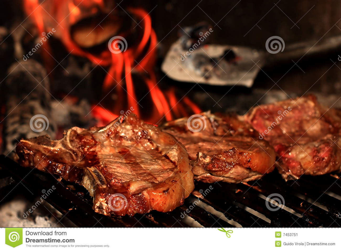 Steaks on the barbecue