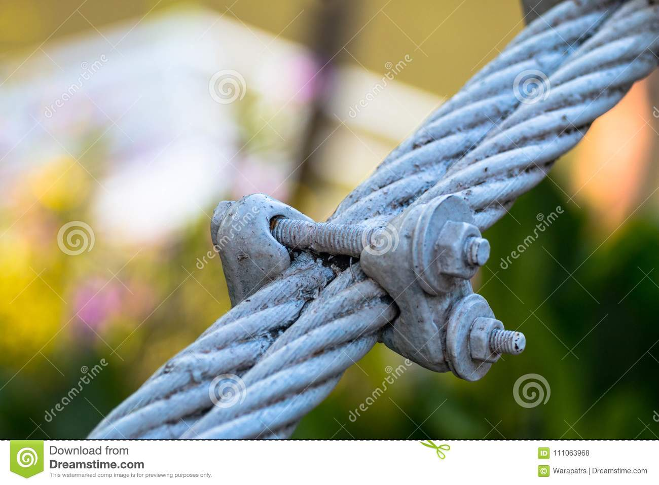 Steal Wire Rope Concept Friendship Or Strong Stock Photo - Image of ...