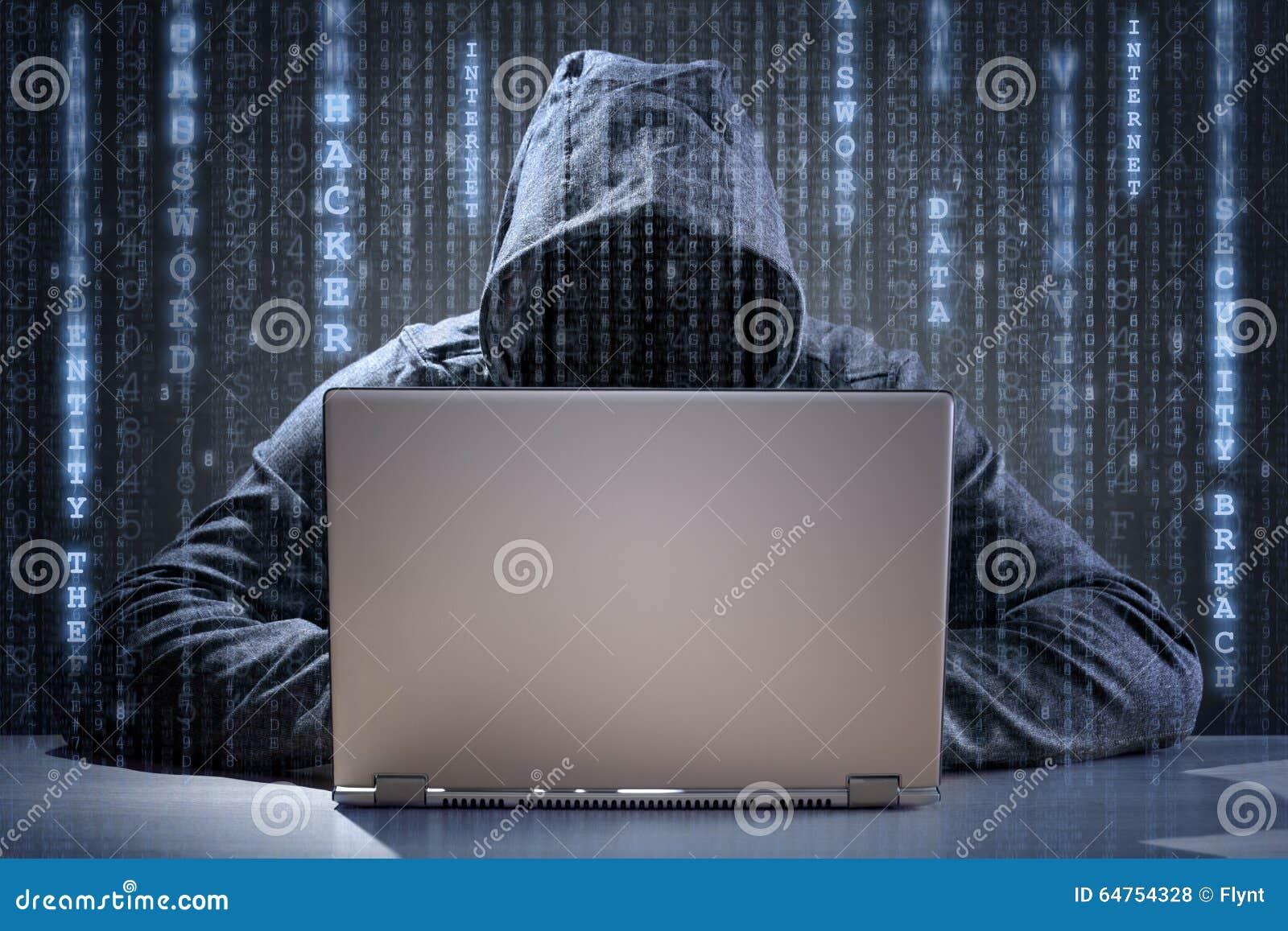 Stealing στοιχεία χάκερ υπολογιστών από ένα lap-top