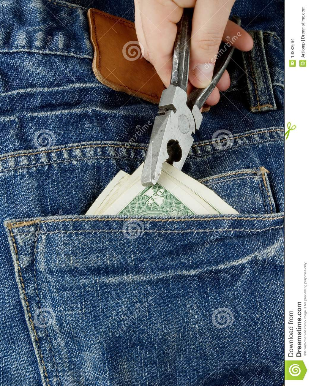Stealing Money Stock Images - Image: 14882664
