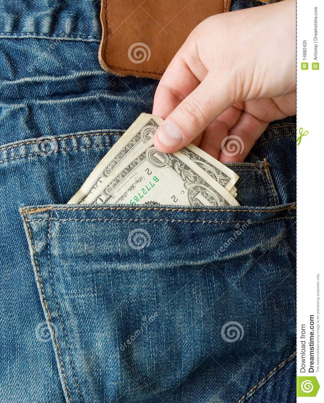 Stealing Money From Back Pocket Royalty Free Stock Photo ...
