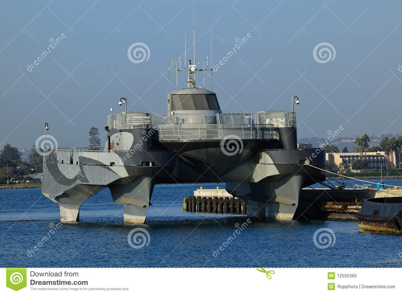 Stealth Boat Docked Stock Image Image Of Water Ocean