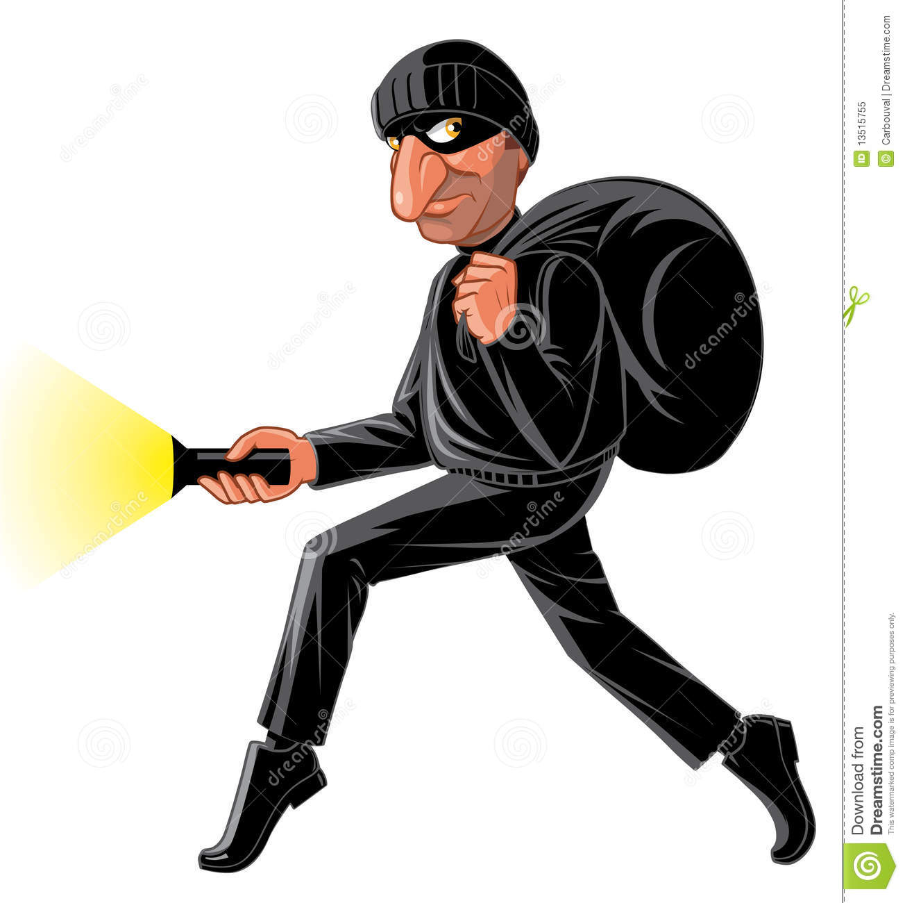Stealthy Thief Royalty Free Stock Photo Image 13515755