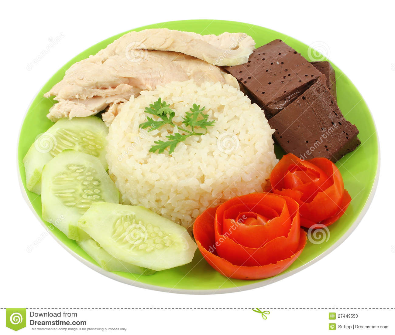 Steam Chicken Over Rice Stock Photos - Image: 27449553