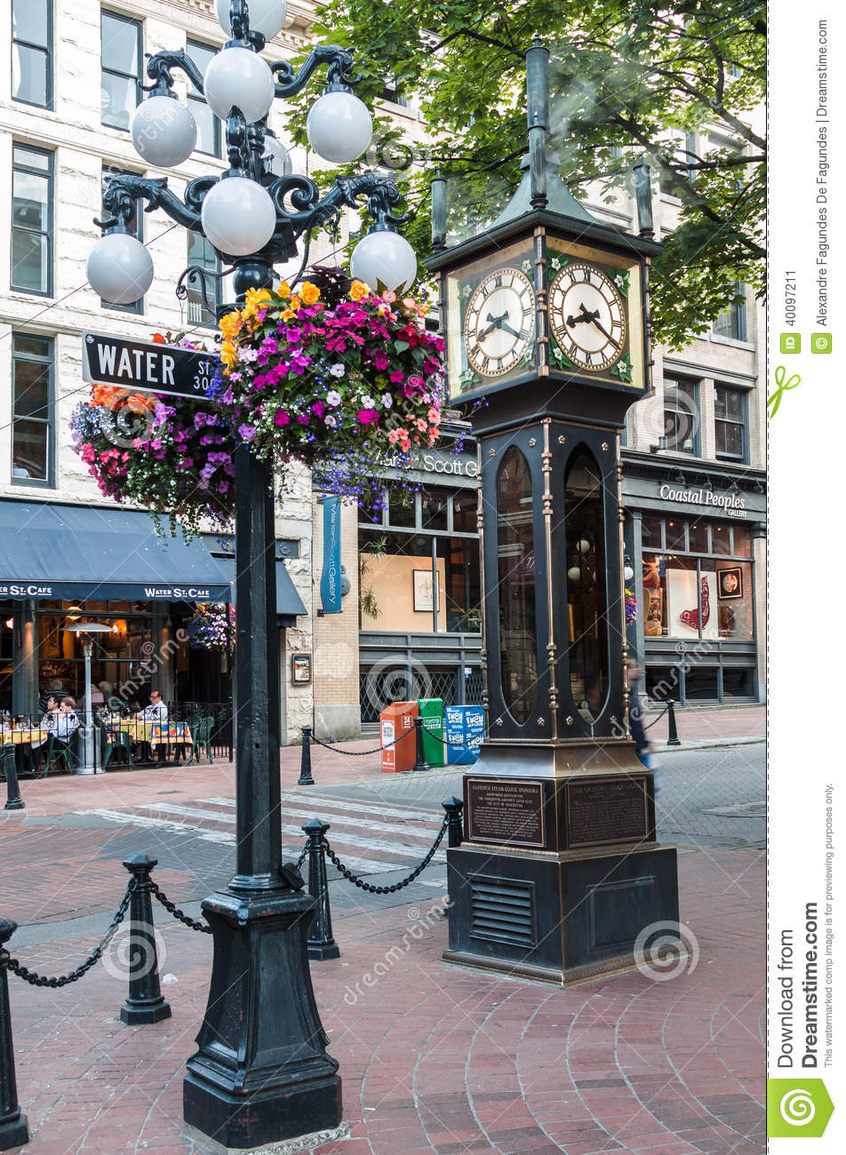 Steam Clock In Gastown Vancouver Editorial Photo Image