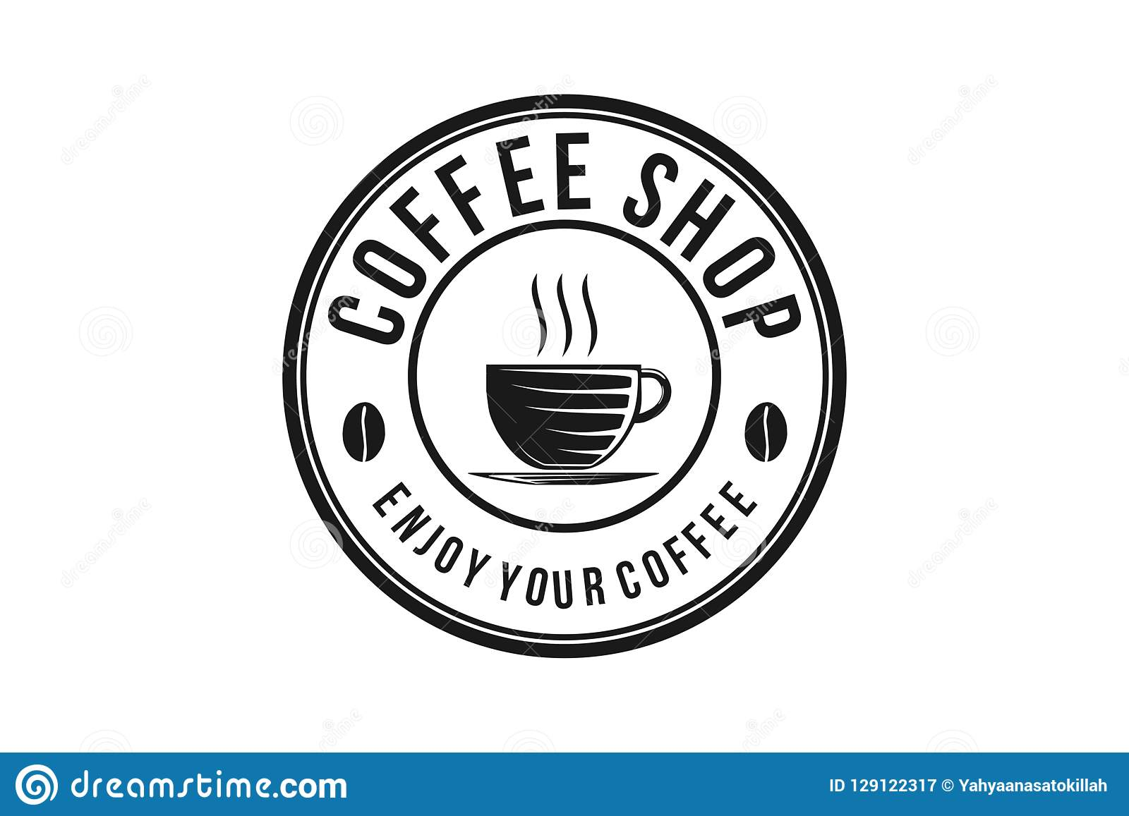 Steam Coffee Drinks And Coffee Cup Coffee Shop Logo Stock Vector Illustration Of Morning Menu 129122317