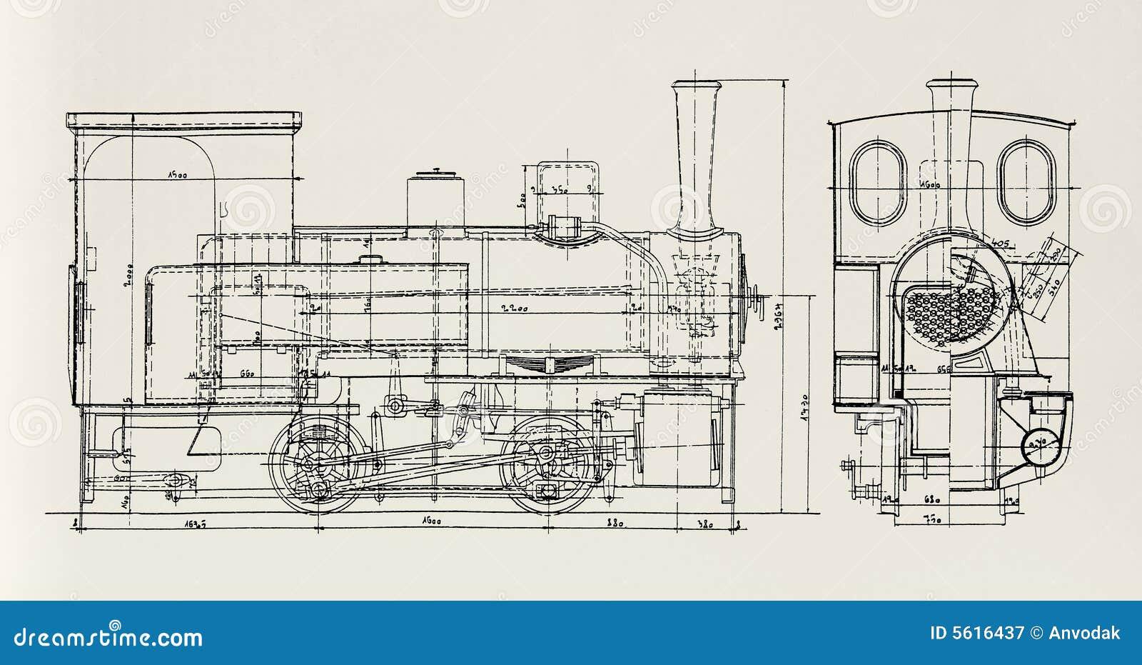 Steam Engine Plan Stock Image Of Railroad Antique 5616437 Diagram