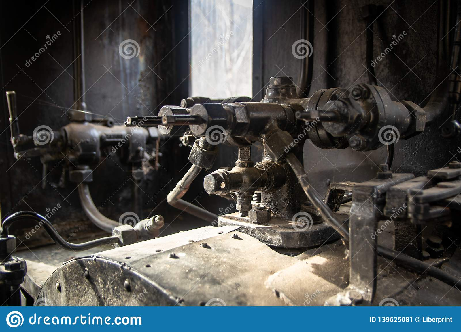 Steam engine for train