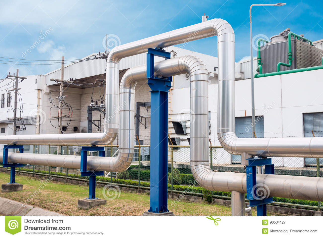 Steam insulation and loop pipeline, Steam pipe.supply