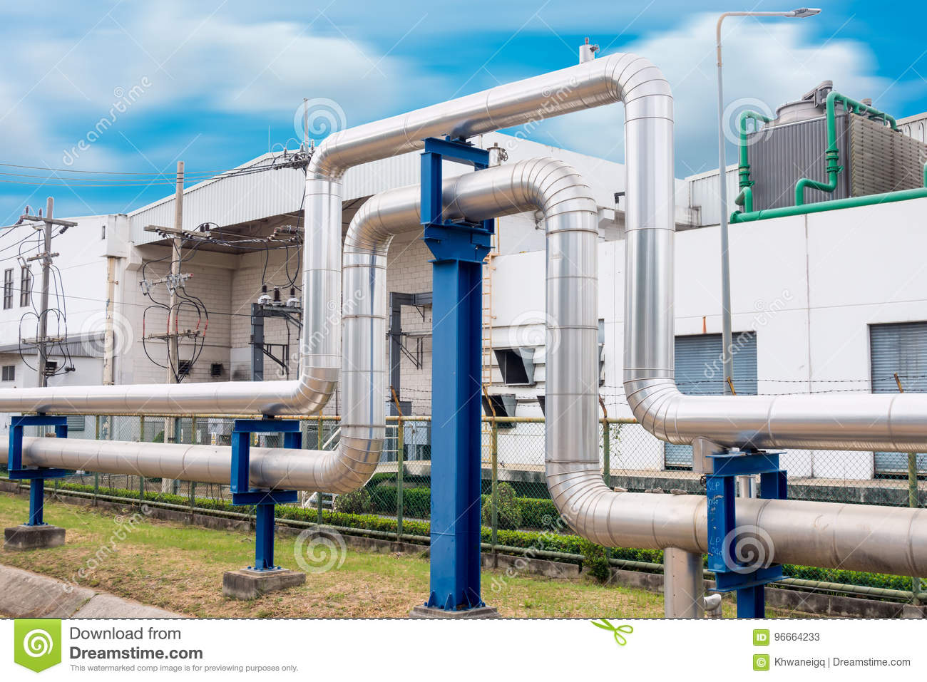 Steam Insulation And Loop Pipeline, Steam Pipe supply Stock
