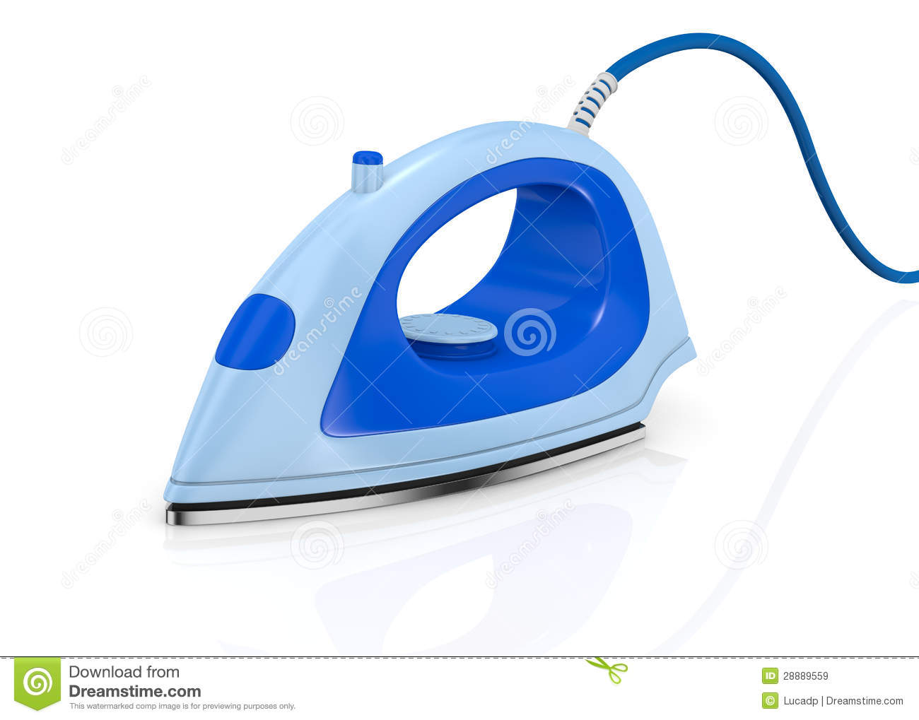 Download Steam iron stock illustration. Illustration of electrical - 28889559