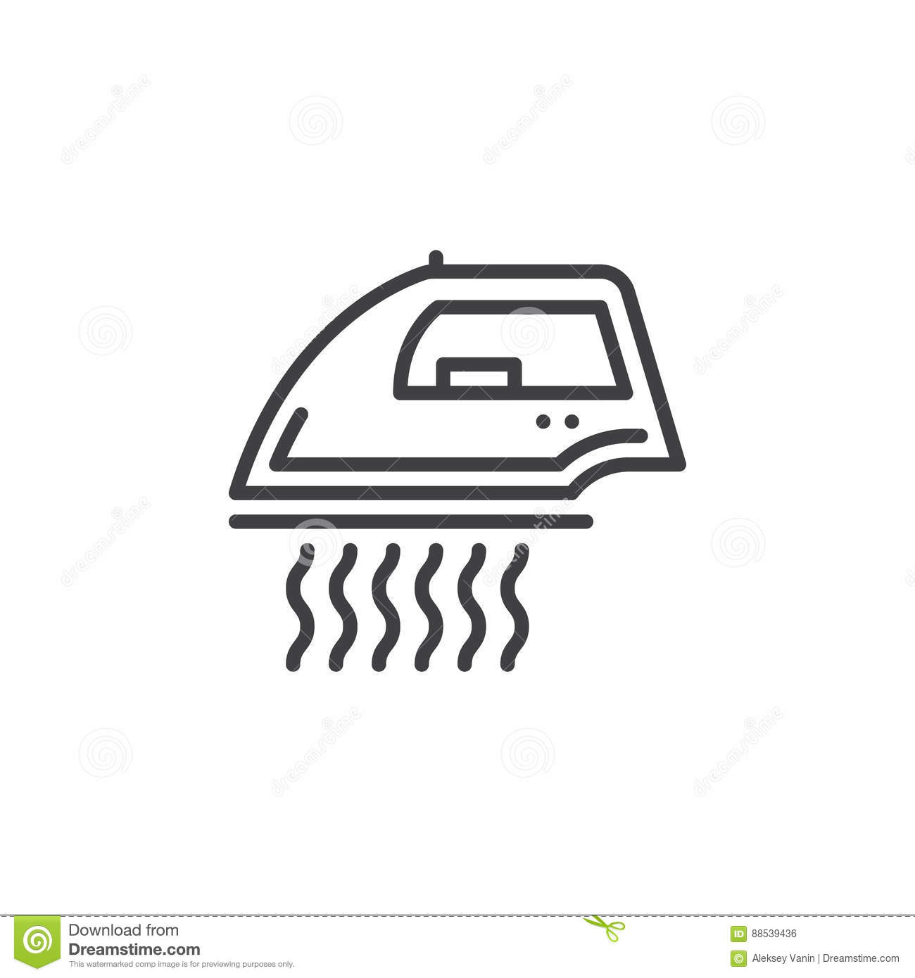 Steam Iron For Clothes Line Icon Outline Vector Sign Linear