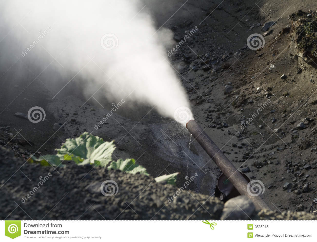 Steam Leak From Pipe : Steam leaking from pipe stock image of leakage