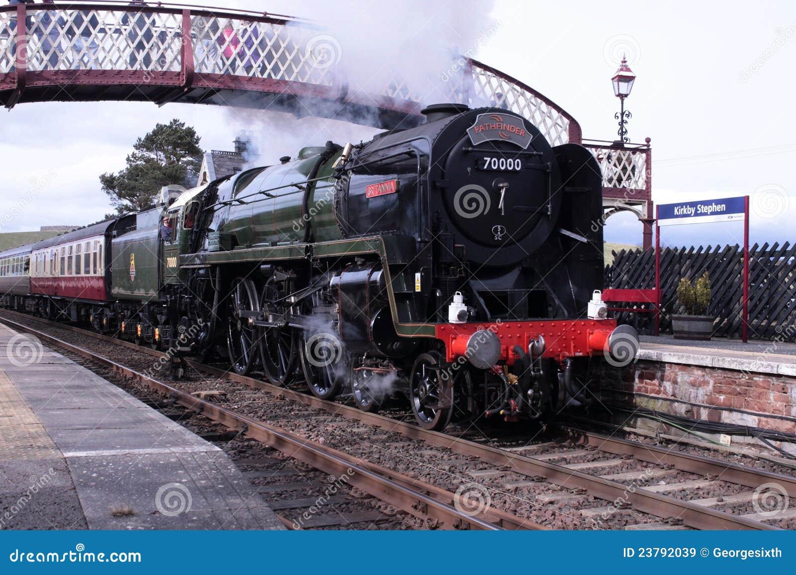 Steam Locomotive Britannia At Kirkby Stephen Editorial Stock
