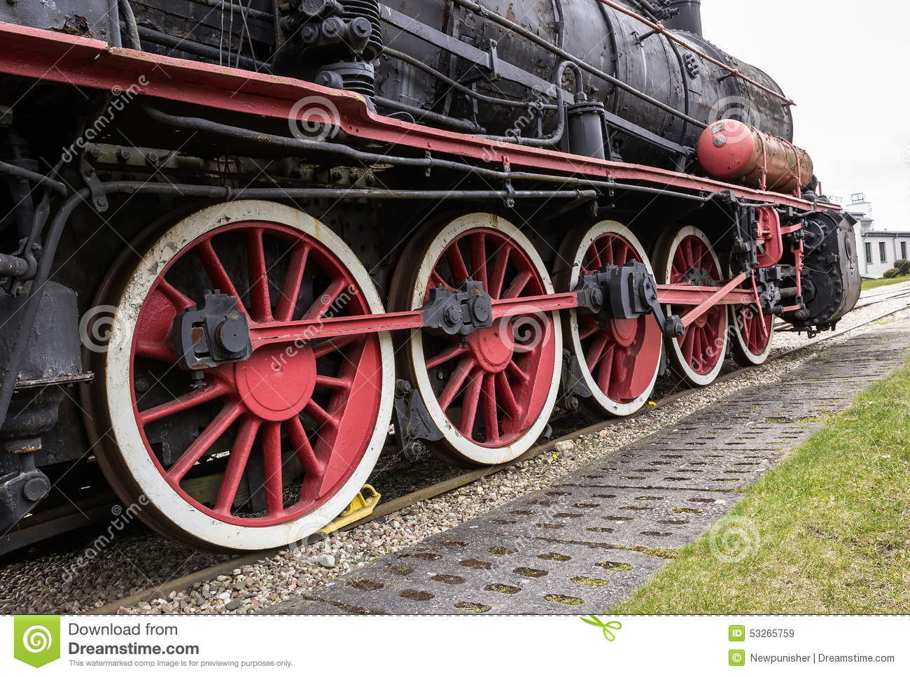 Steam Engine Wheel Driving : The steam locomotive stock photo image