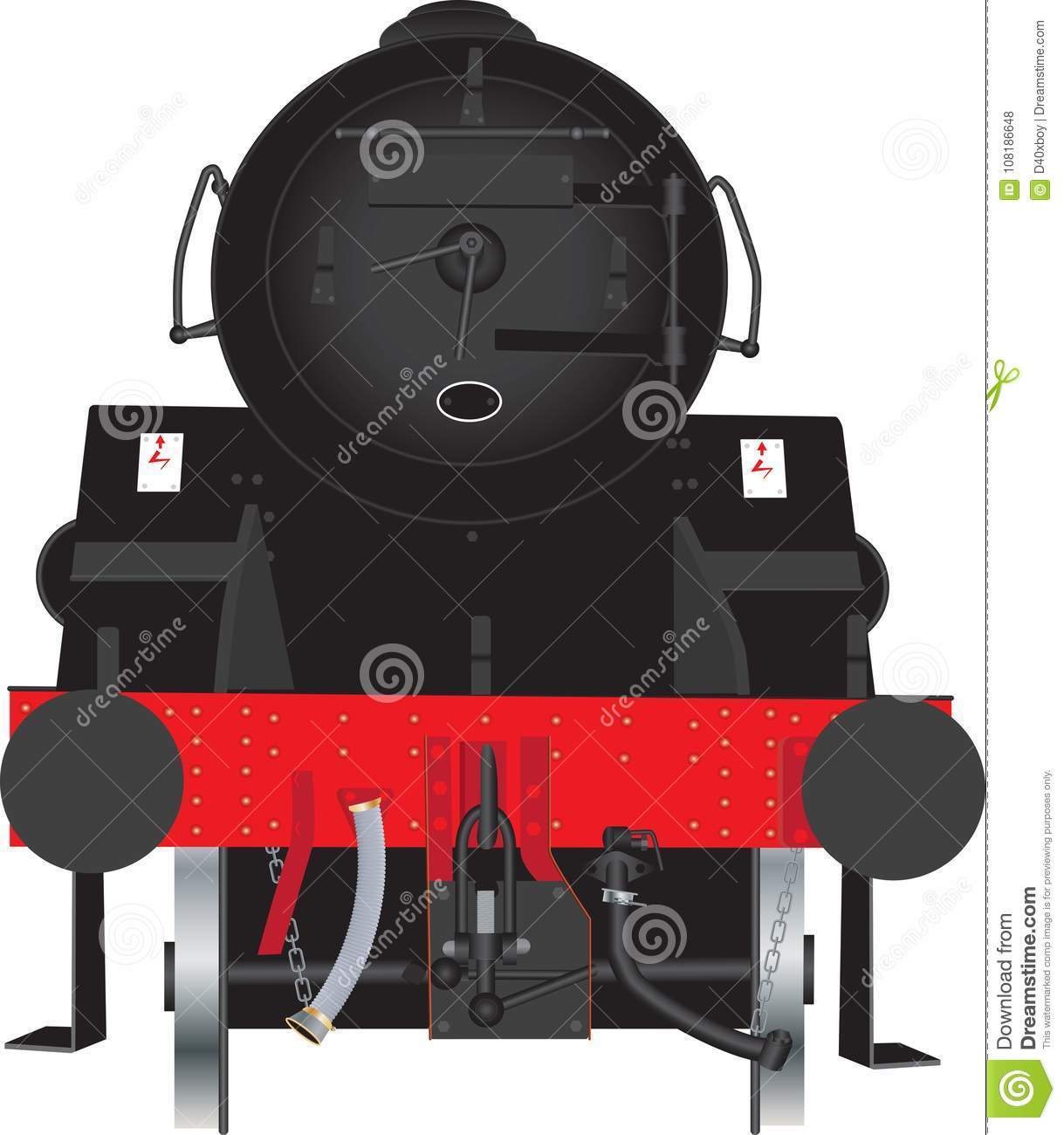 Steam Locomotive Front Stock Vector Illustration Of Powerful Car Engine Diagram