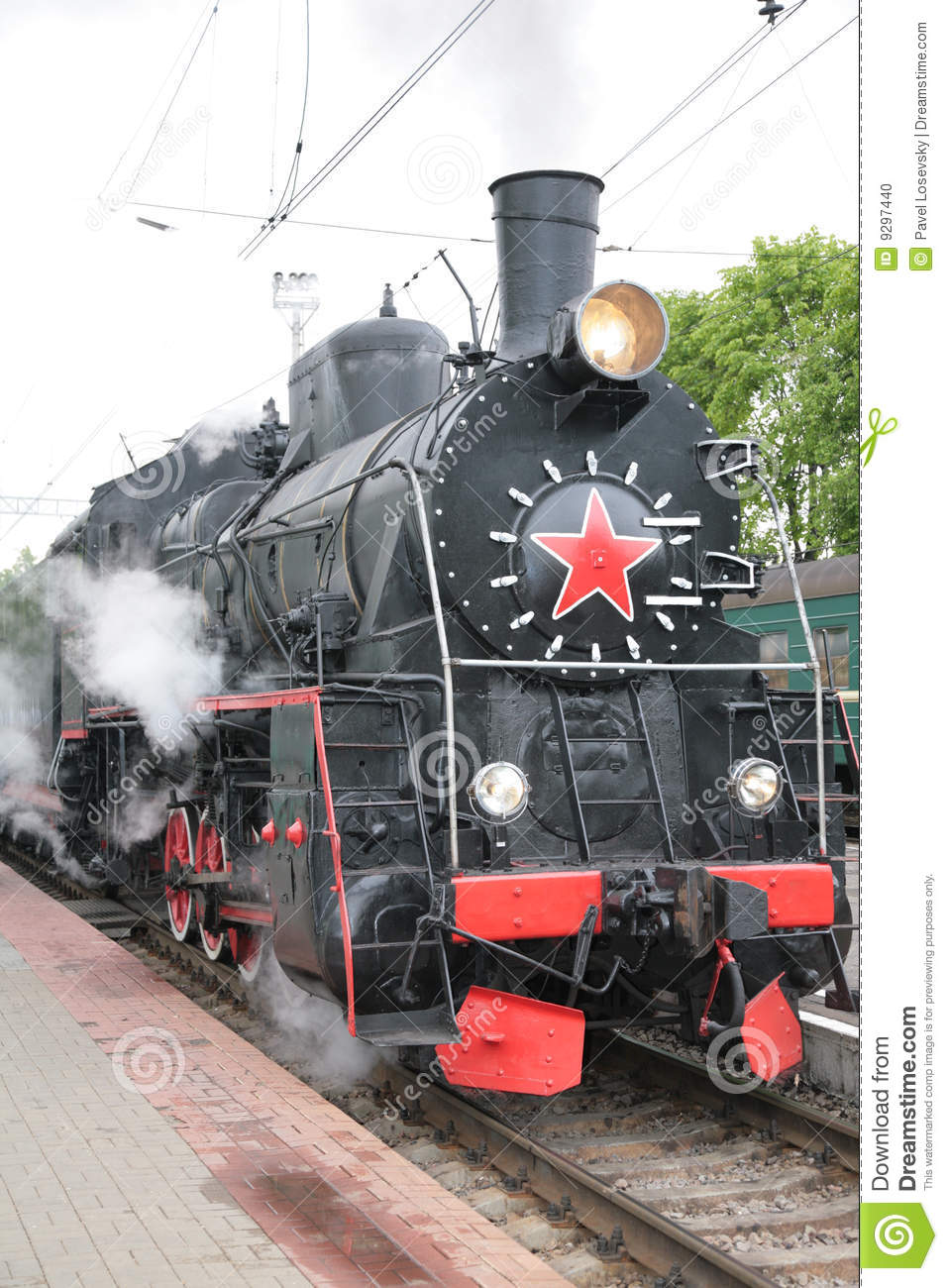 Steam Locomotive, Front View Stock Photo - Image: 9297440