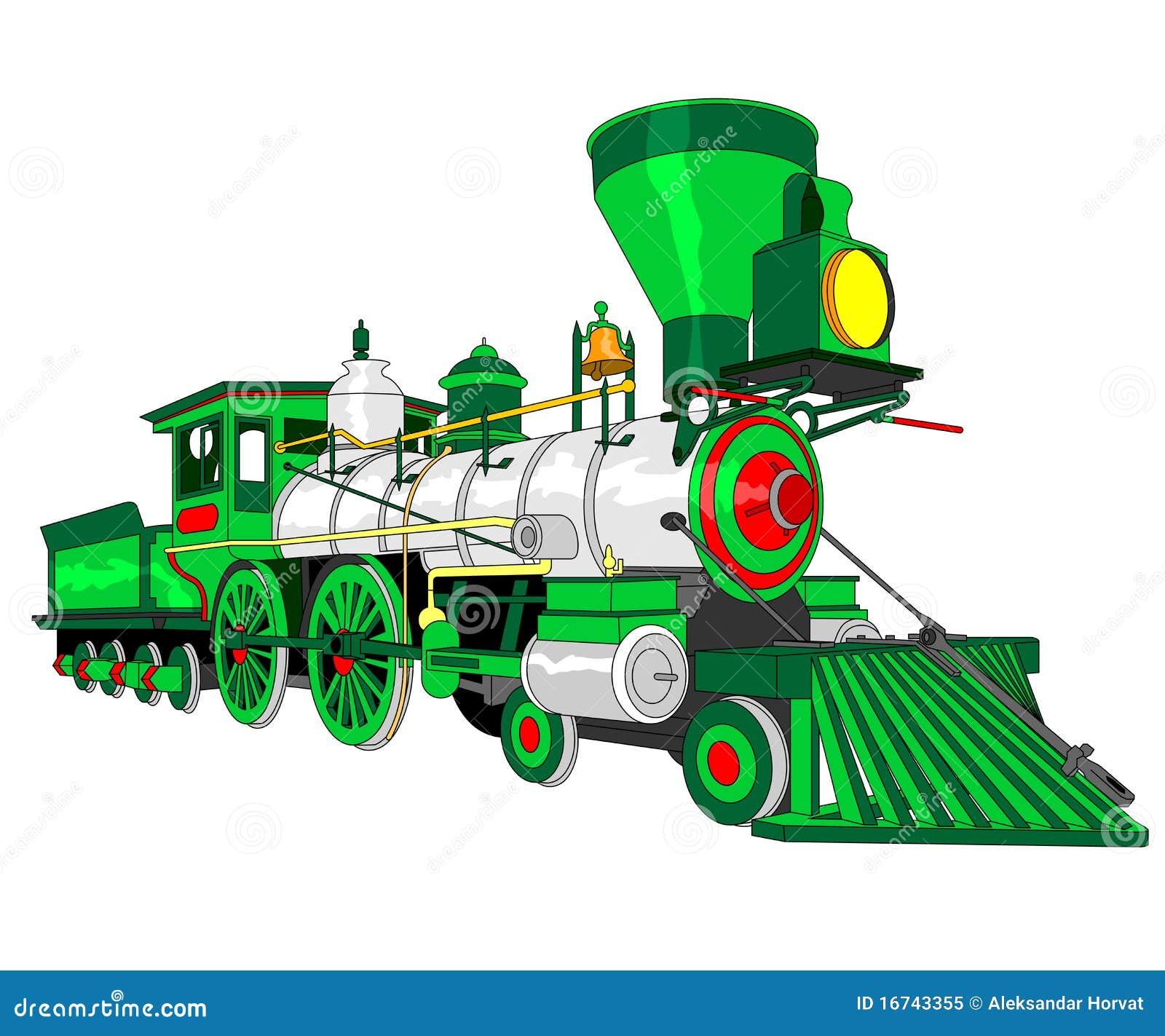 Steam Locomotive Illustration Stock Vector - Image: 16743355