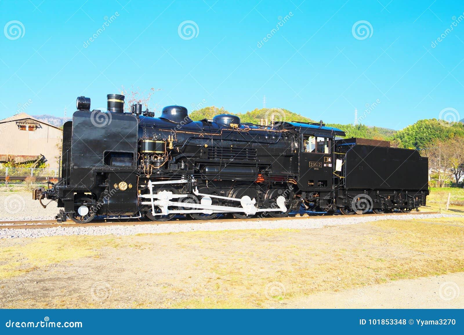 The Steam Locomotive Of JNR Class 9600 In Kusu, Oita, Japan