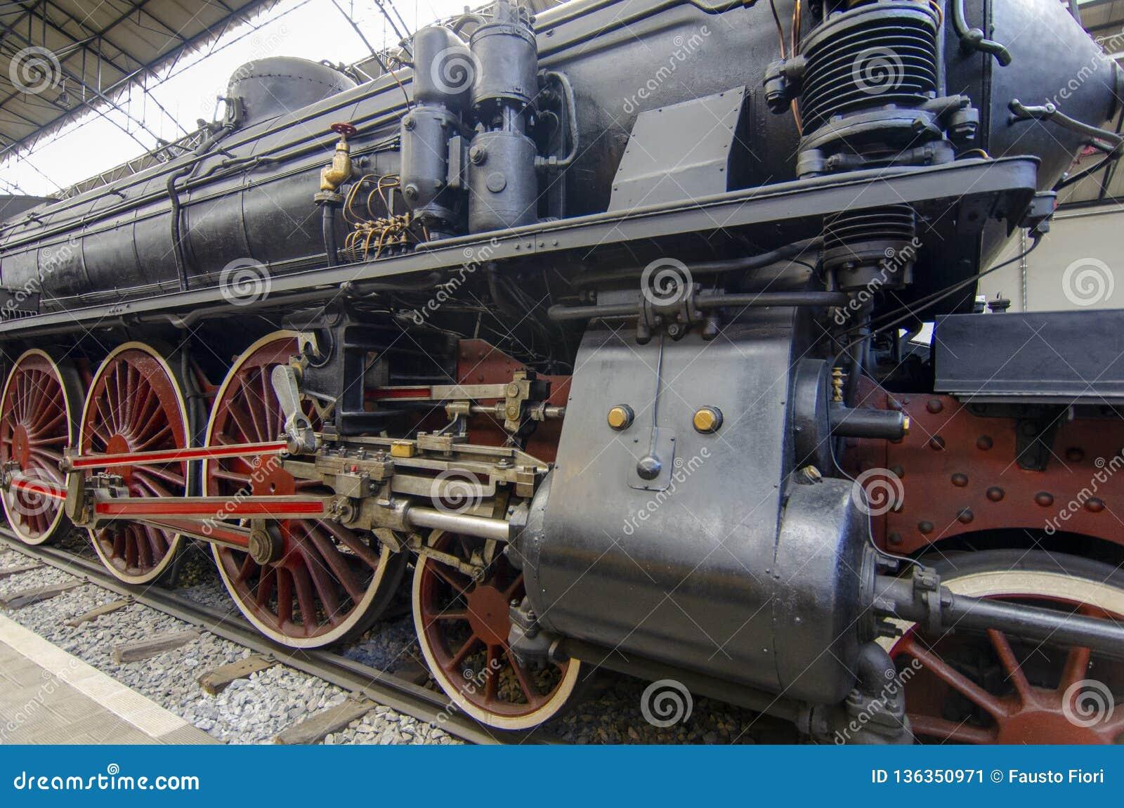 Museo Scienza E Tecnica.Steam Locomotive Stock Image Image Of Steam View Museo 136350971