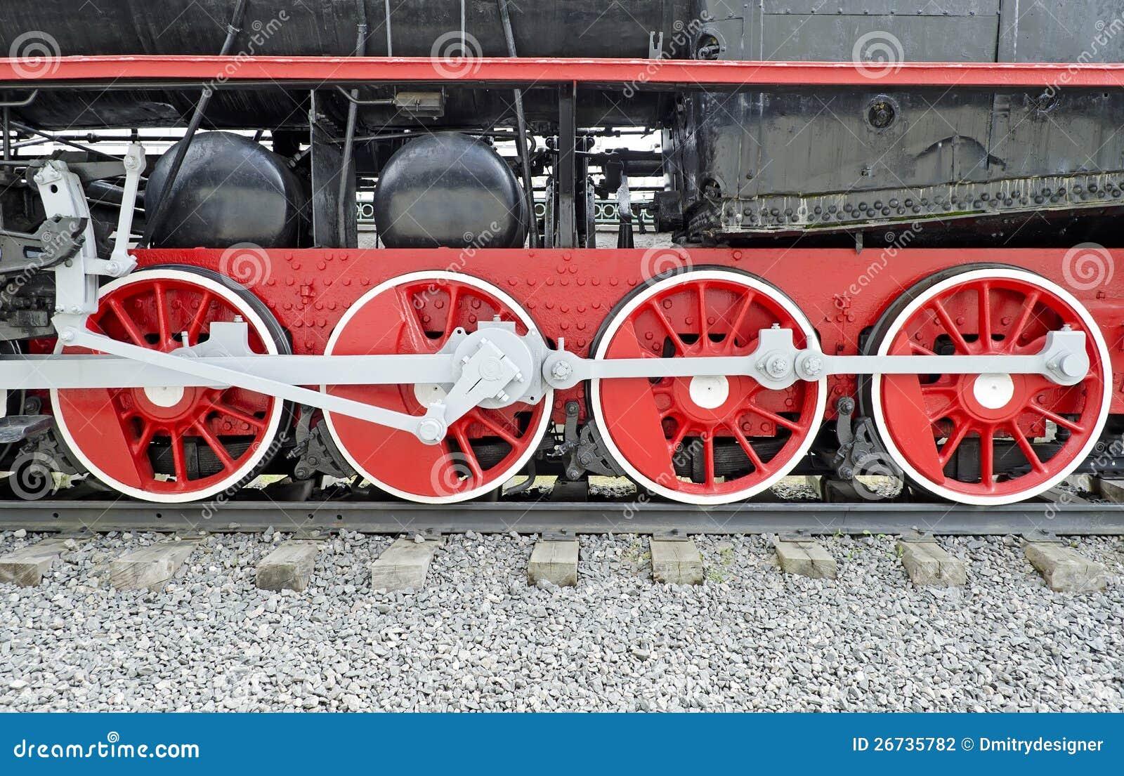 Steam Locomotive Wheels Stock Photography Image 26735782