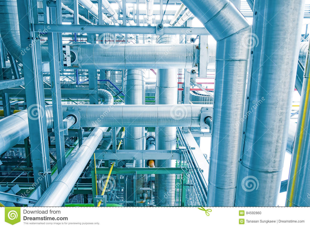 Steam Piping With Thermal Insulation Stock Photo - Image of ...