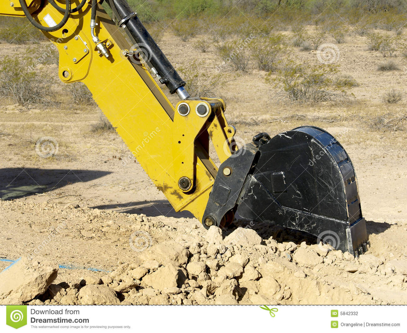 Steam shovel digging in the ground horizontal stock for Digging ground dream meaning