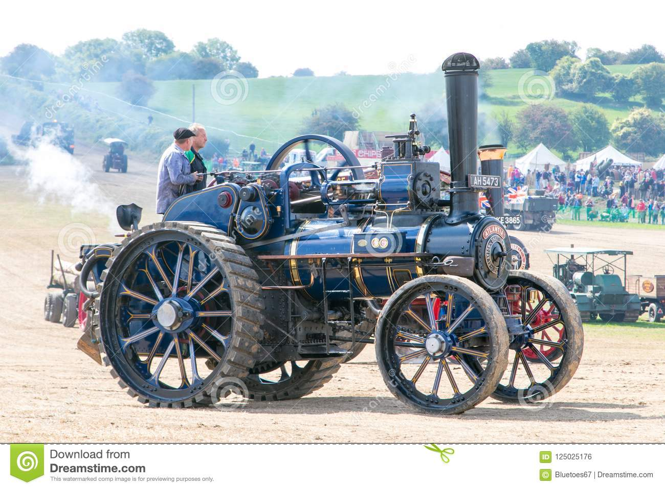 Steam traction engine editorial photo. Image of eccentric - 125025176