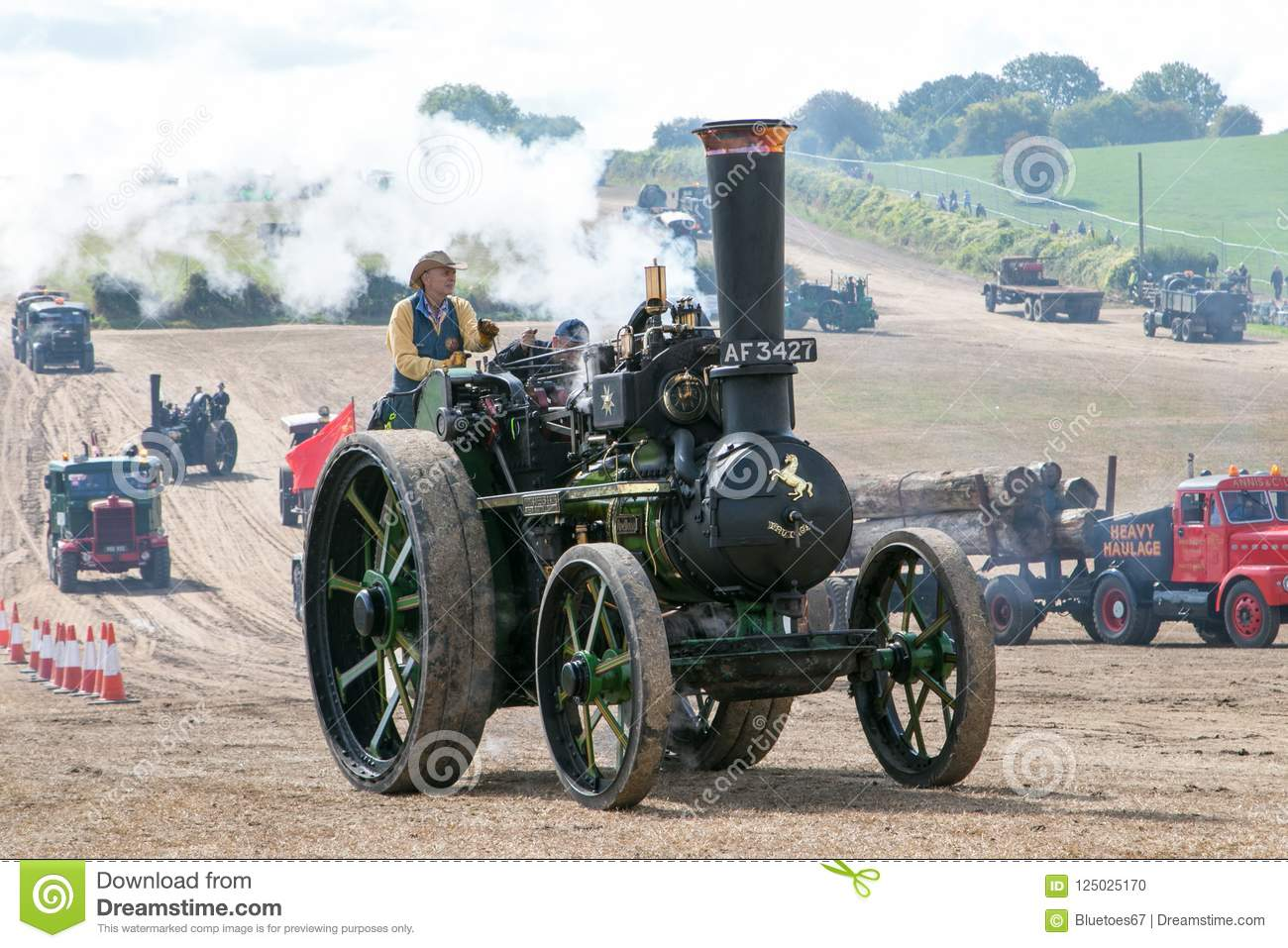 Steam traction engine editorial image. Image of black - 125025170