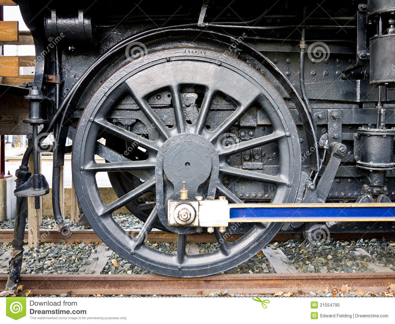 Steam Engine Wheel Driving : Steam train drive wheel detail stock image of