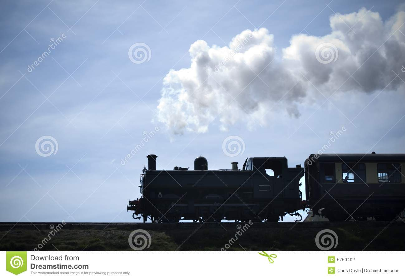 Steam Train Silhouette Stock Photography Image 5750402