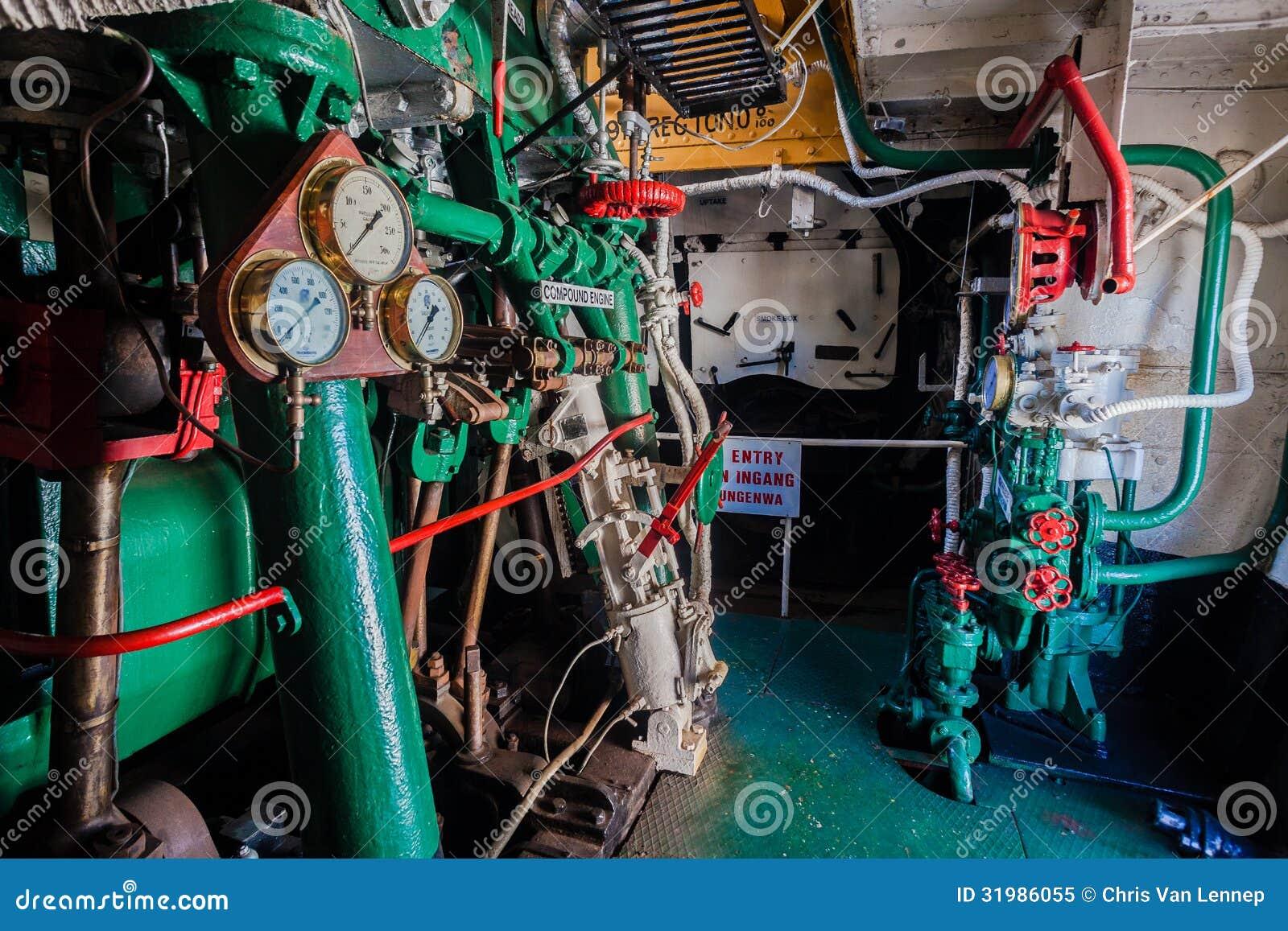 Marine Gauges Steam Tug Vessel Engin...
