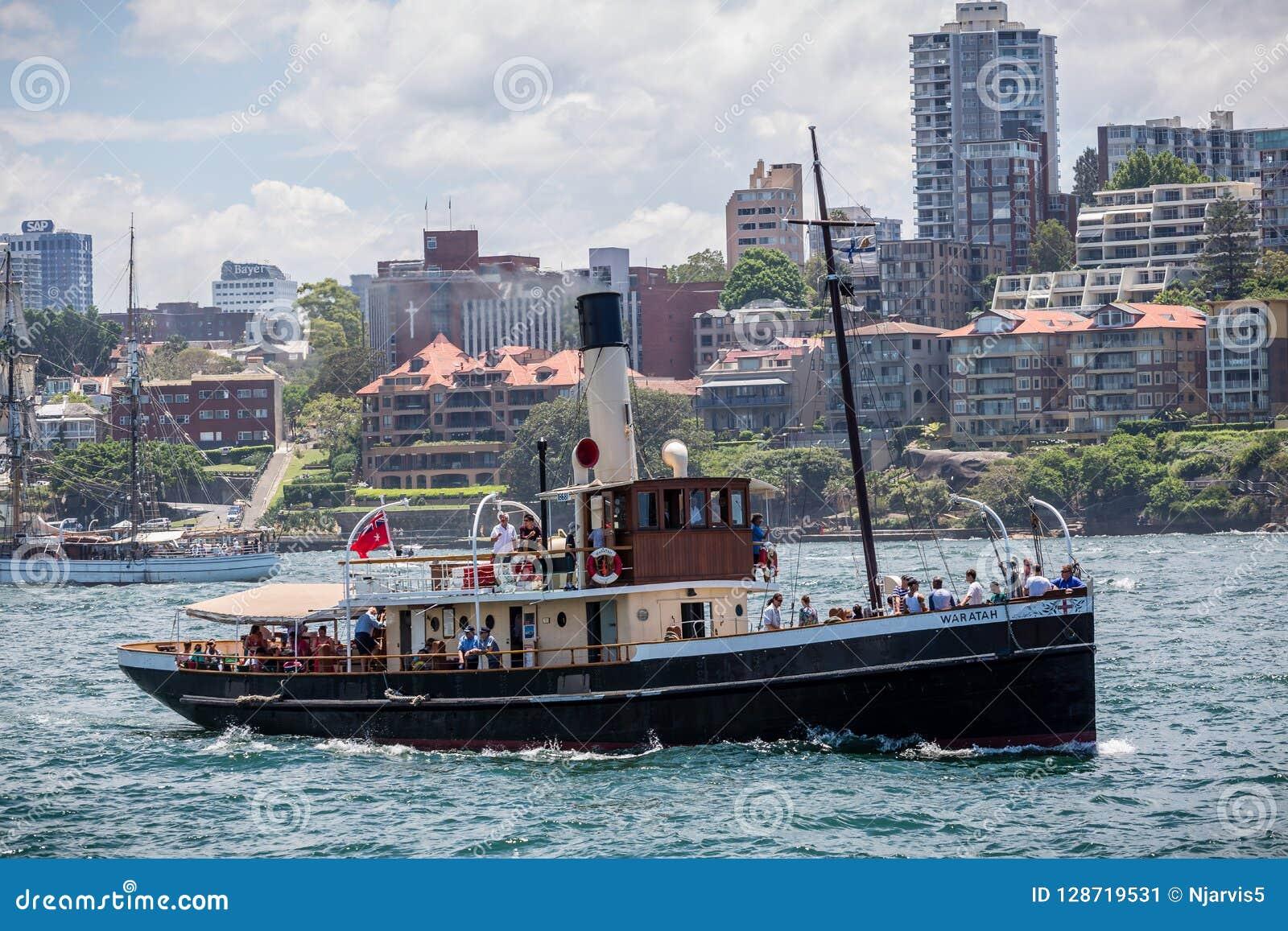 Steam Tug Waratah Steaming In Sydney Harbour, Sydney