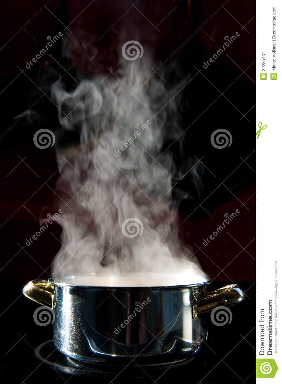 Steam stock image. Image of kettle, preparation, metal ...
