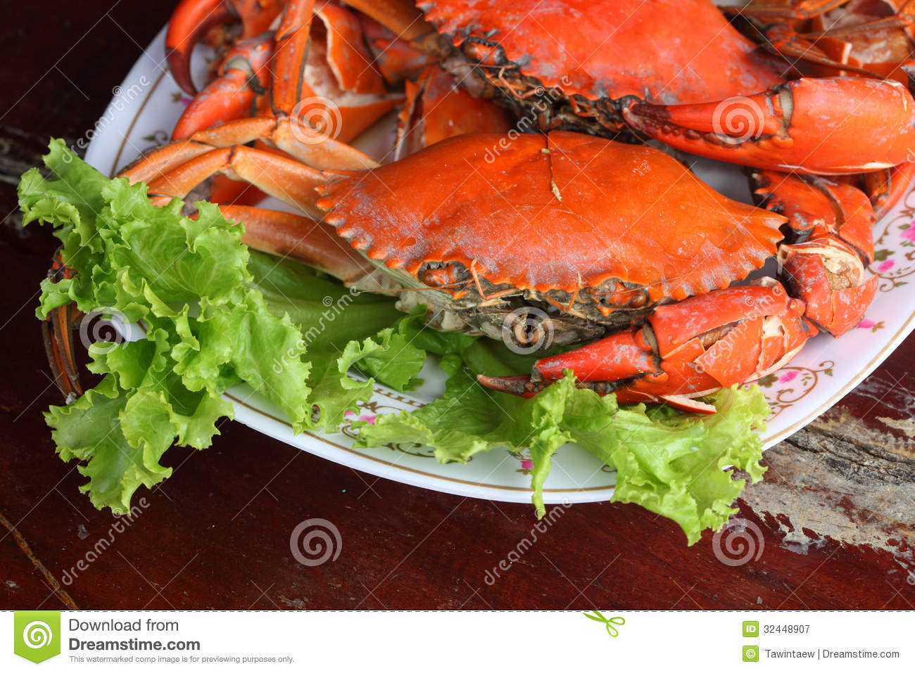 Steamed Crab Stock Image Image Of House Ocean Blue