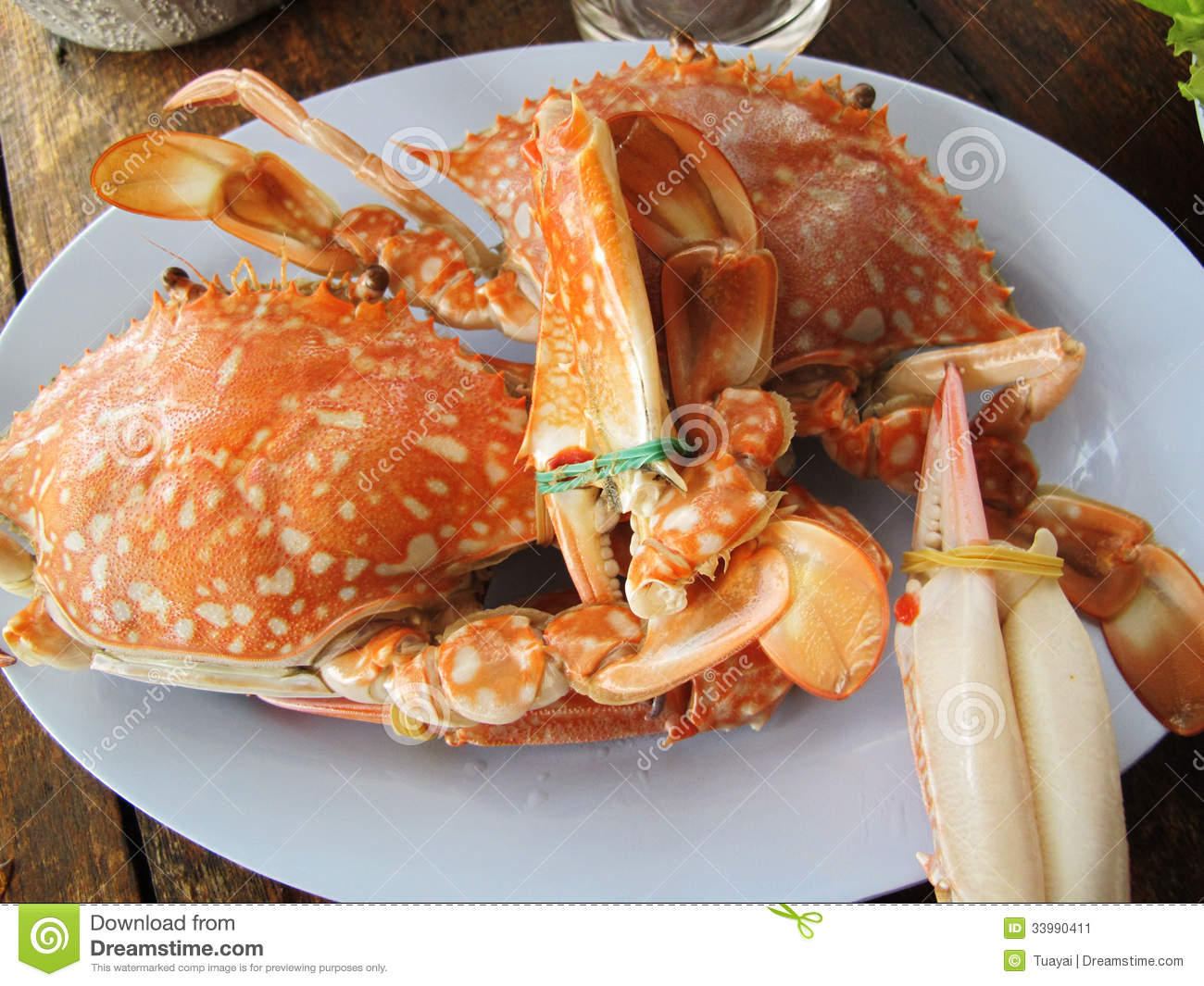 Steamed blue crab stock image image of fish meal fresh for Fish as food