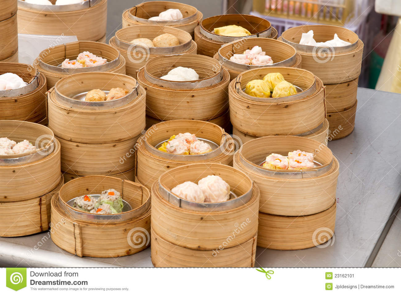 steamed dim sum in bamboo trays stock image image of singapore dumplings 23162101. Black Bedroom Furniture Sets. Home Design Ideas