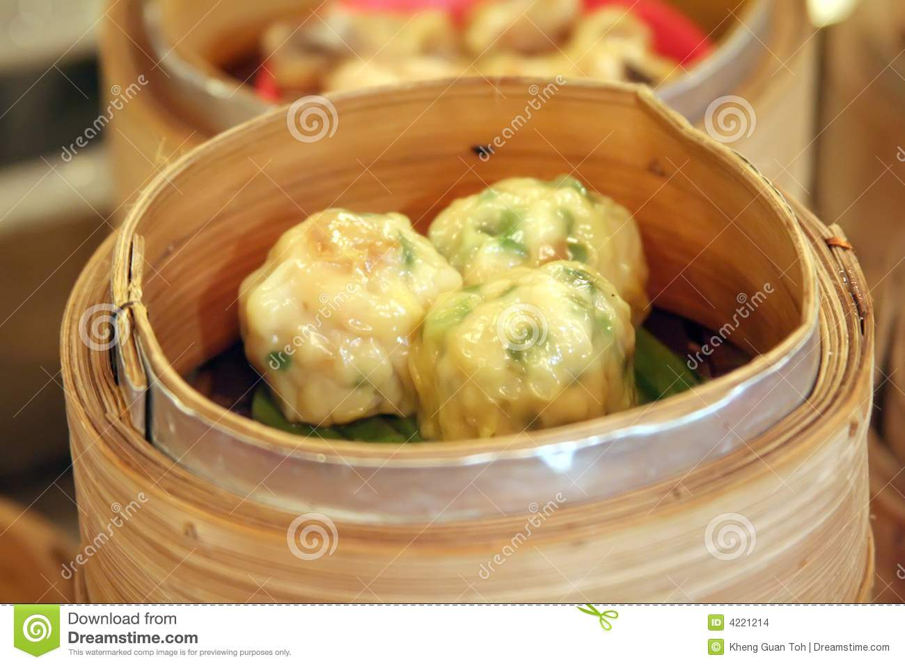 Steamed dumpling dim sum, Traditional chinese cuisine.