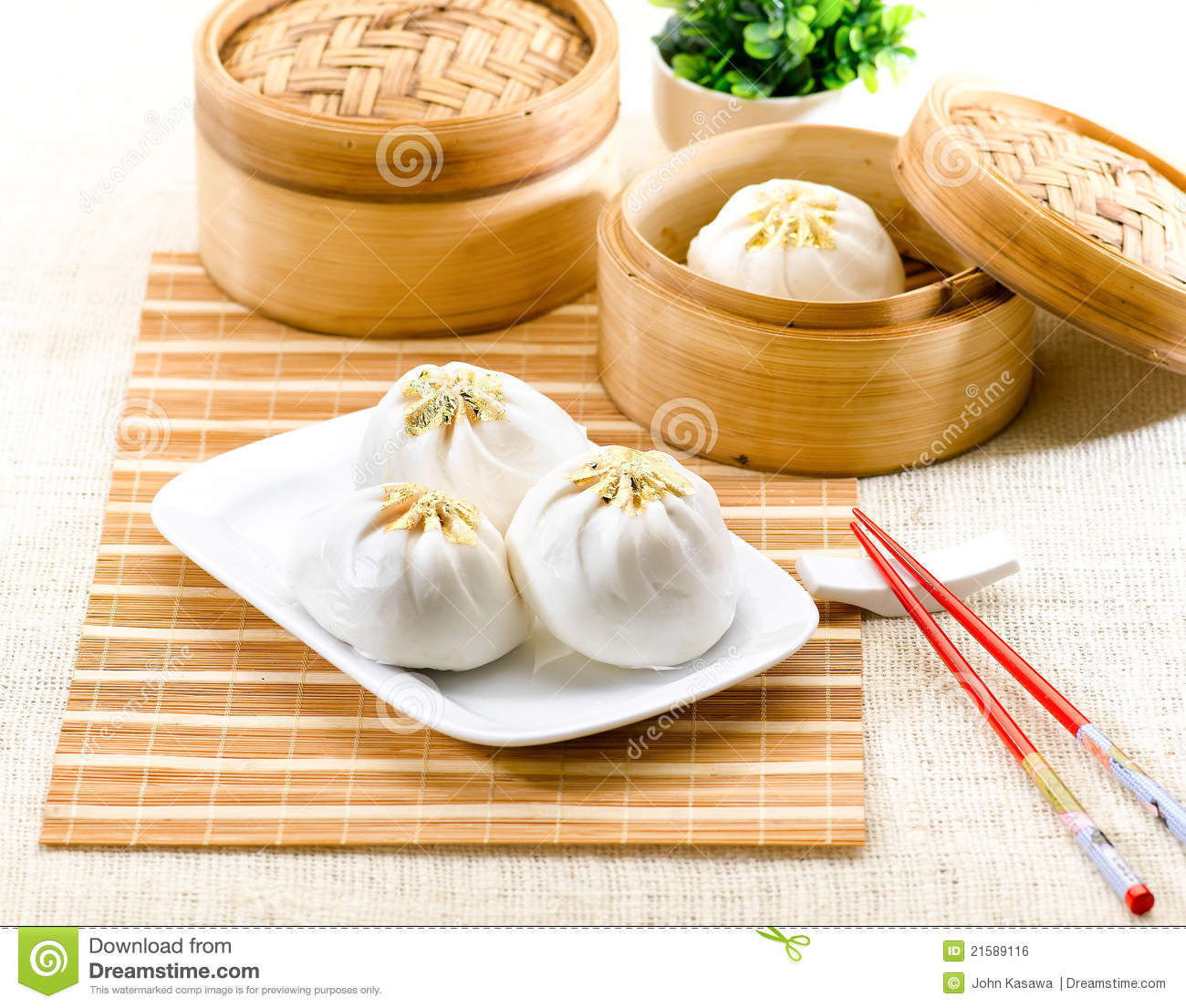 Steamed Dumpling Chinese Style Food Royalty Free Stock