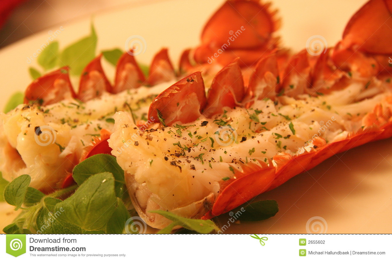 Steamed maine lobster tails stock photography image 2655602 for Best time to visit maine for lobster