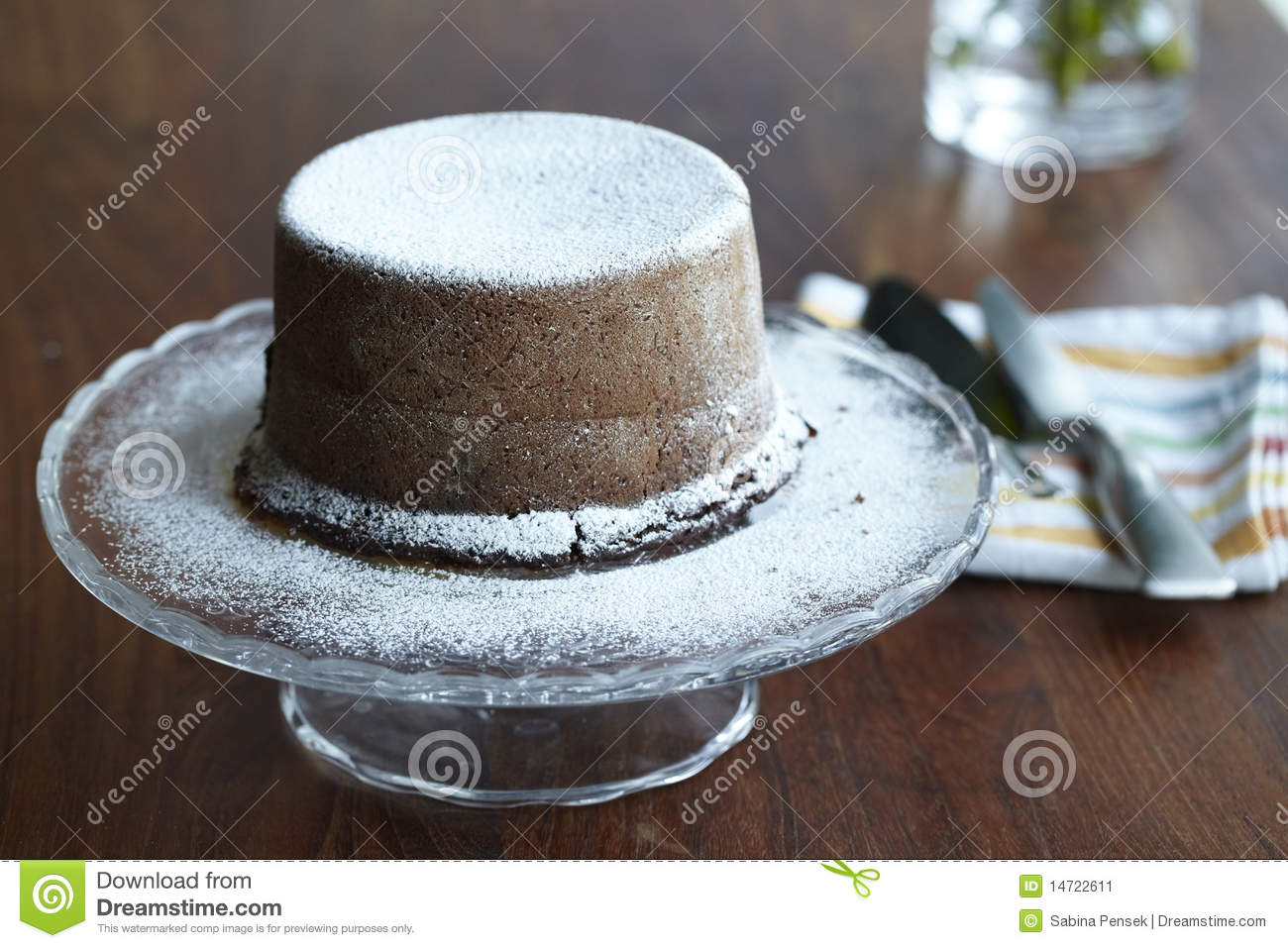 Steamed Pudding Chocolate Cake Stock Image - Image: 14722611