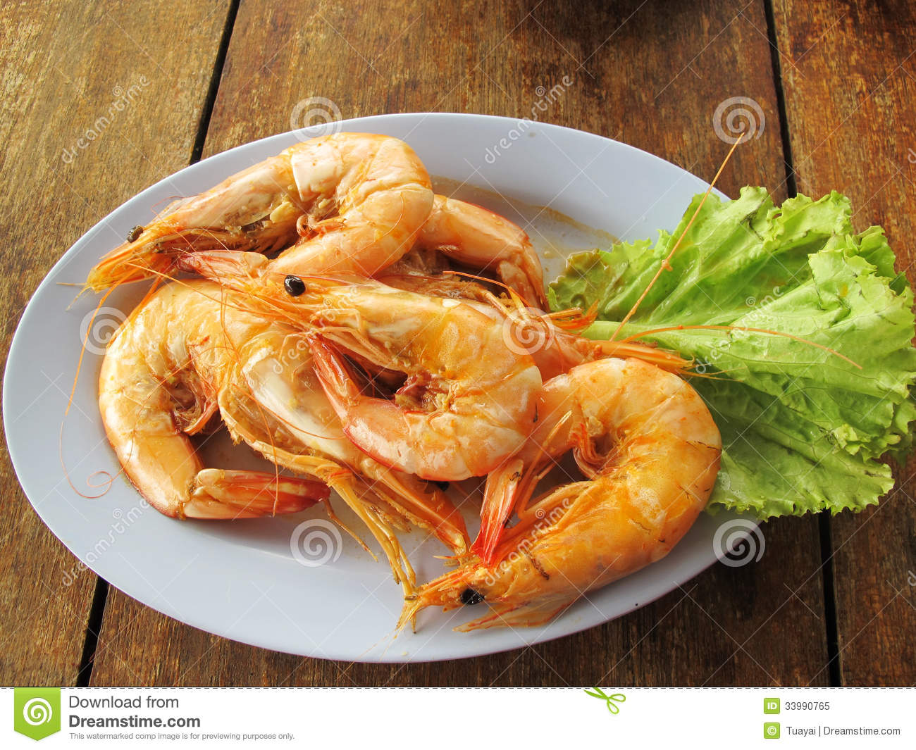 Steamed shrimp royalty free stock photo image 33990765 for Fish as food